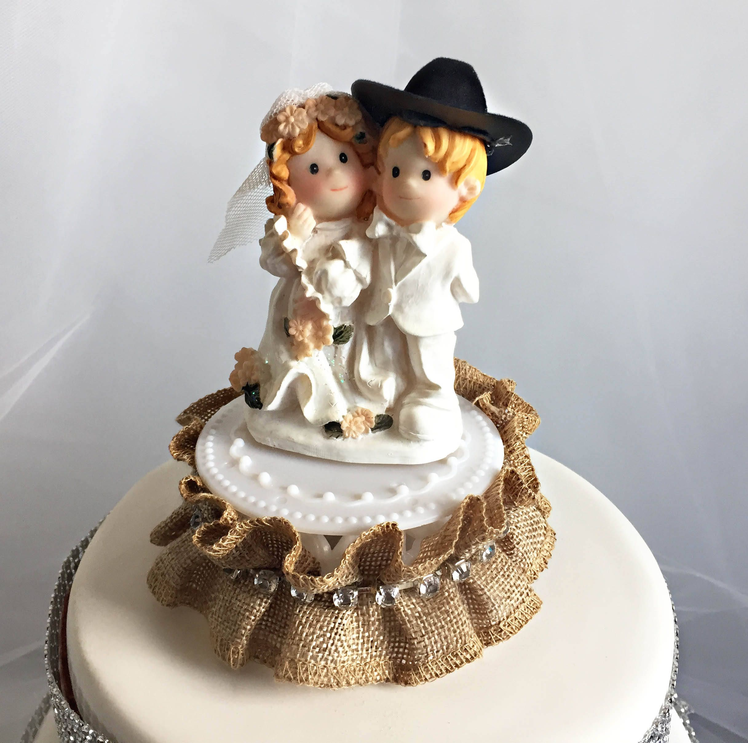 Rustic wedding cake topper mr and mrs topper bride and