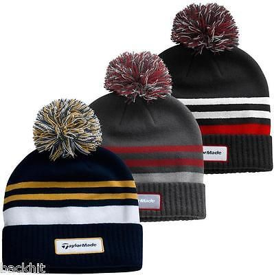 4e47e024 New - #taylormade golf #double knit #thermal striped golf beanie mens bobble  hat