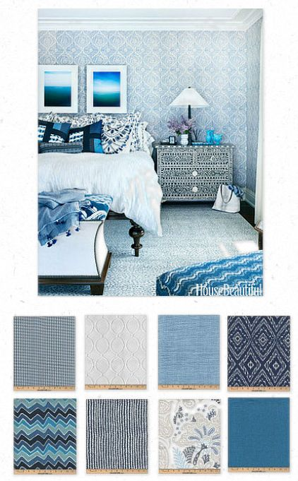 Bedroom | Residential | Blue Sapphire - Moroccan | Mosaic | Playful