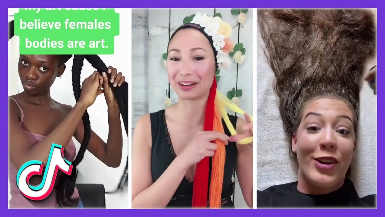 Funny Tiktok Hairstyle Video Compilation Cute Hot Hair Transformation Hair Videos Hair Transformation Hairstyle