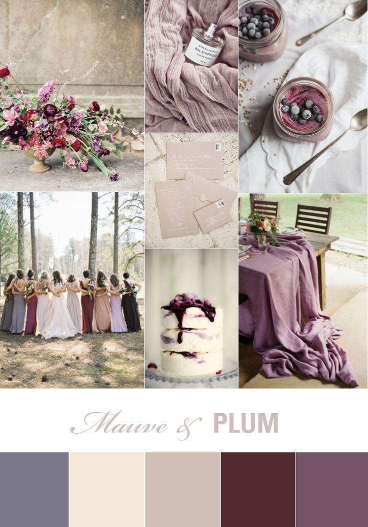Mauve And Plum Wedding Inspiration