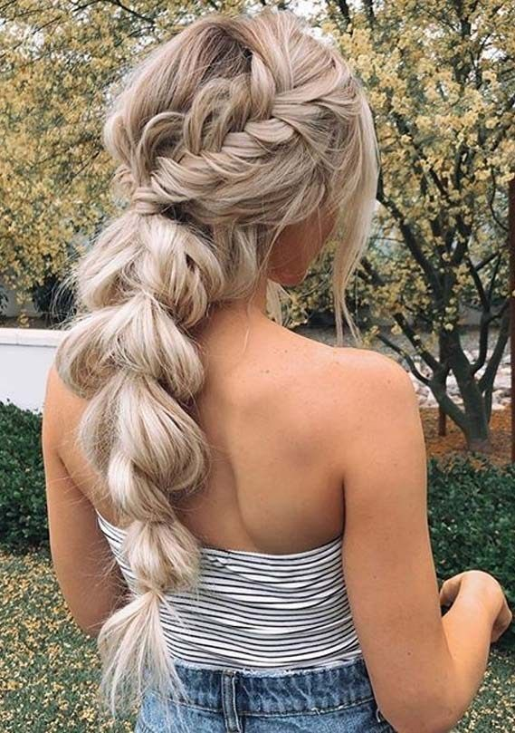 Stunning Boho Braided Ponytail Hairstyles for Women 2019 | Voguetypes