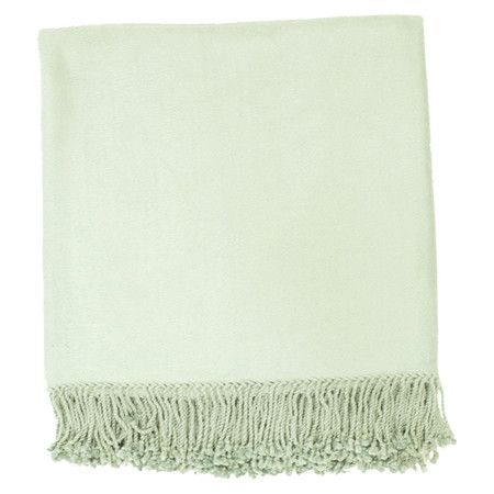 Bamboo and cotton throw with a fringed trim.     Product: ThrowConstruction Material: 80% Bamboo and 20% cotton