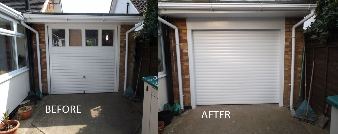 SALE - Our single white electric rollers doors are now JUST £699 RRP £2250 OVER 65% OFF!! Being a direct manufacturer with electric roller doors our ... & SALE - Our single white electric rollers doors are now JUST £699 RRP ...