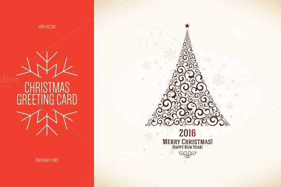 Christmas and New Year greeting card by Restaurant Menu Открытки