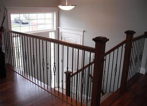 Split Foyer Windows : Split level home i like these railing open feel
