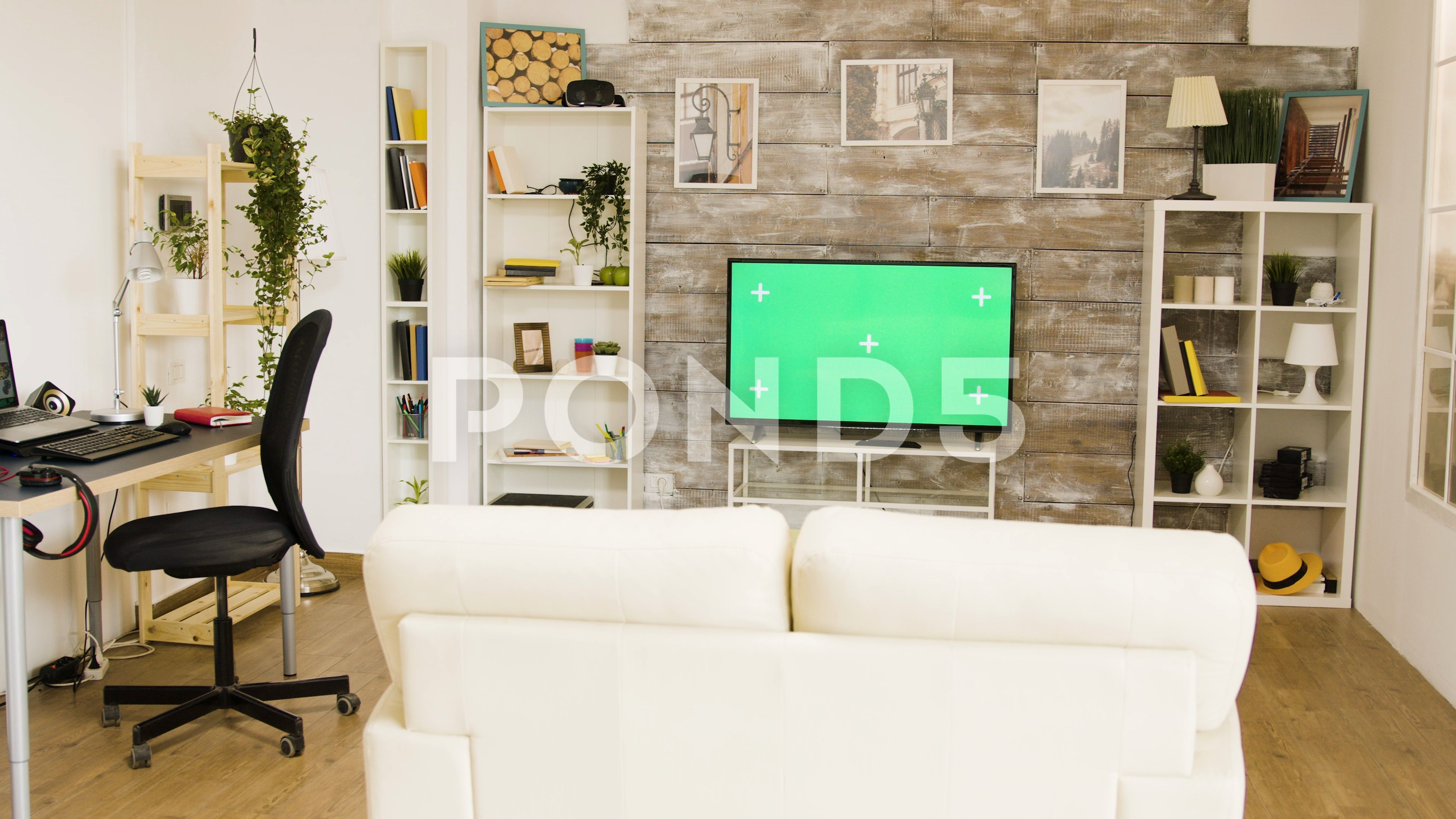 Green Screen Tv In A Bright And Well Lit Living Room Stock Footage Ad Tv Bright Green Screen Greenscreen Living Spaces Big Green