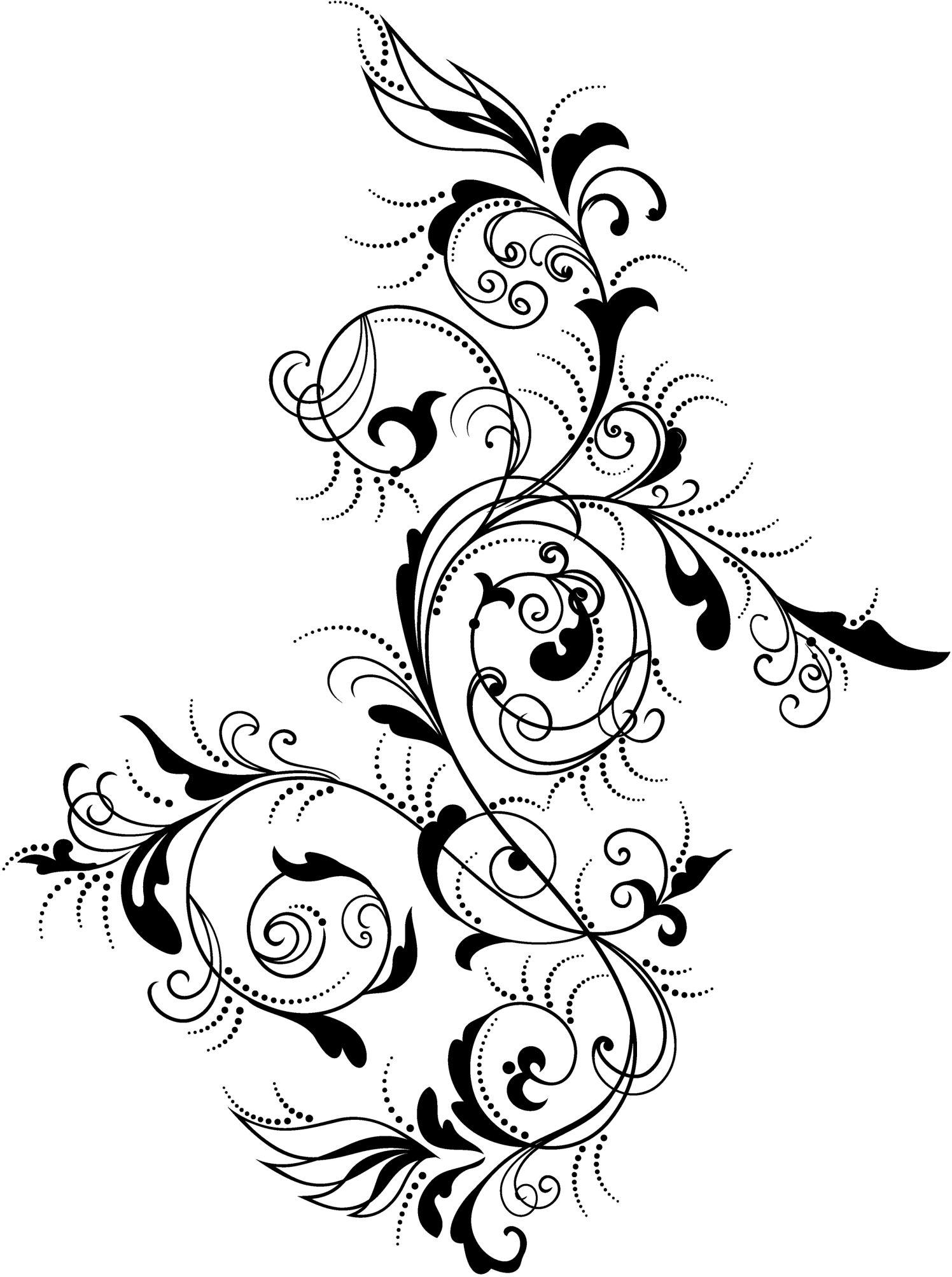 Dibujos de flores para tatuar  Tatoos Stenciling and Mandalas