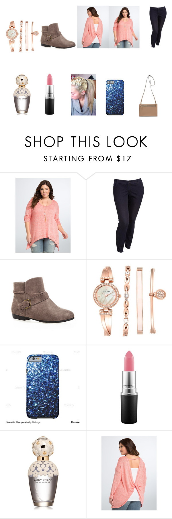 """""""Untitled #265"""" by bleachbrains on Polyvore featuring Torrid, Old Navy, Avenue, Anne Klein, MAC Cosmetics and Marc Jacobs"""