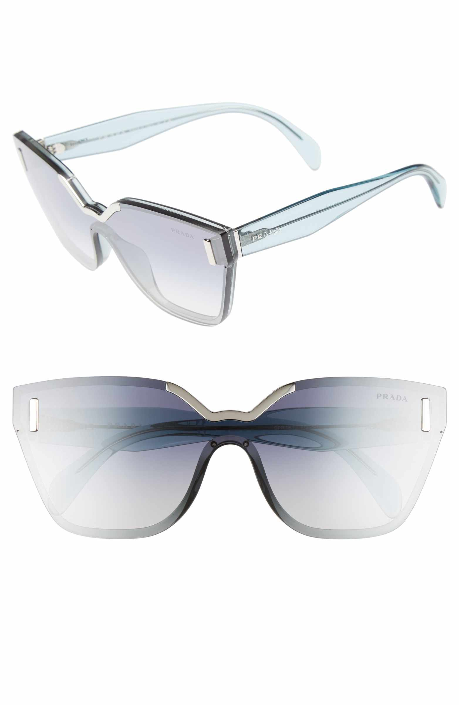 83dedc215b05 Main Image - Prada 61mm Mirrored Shield Sunglasses