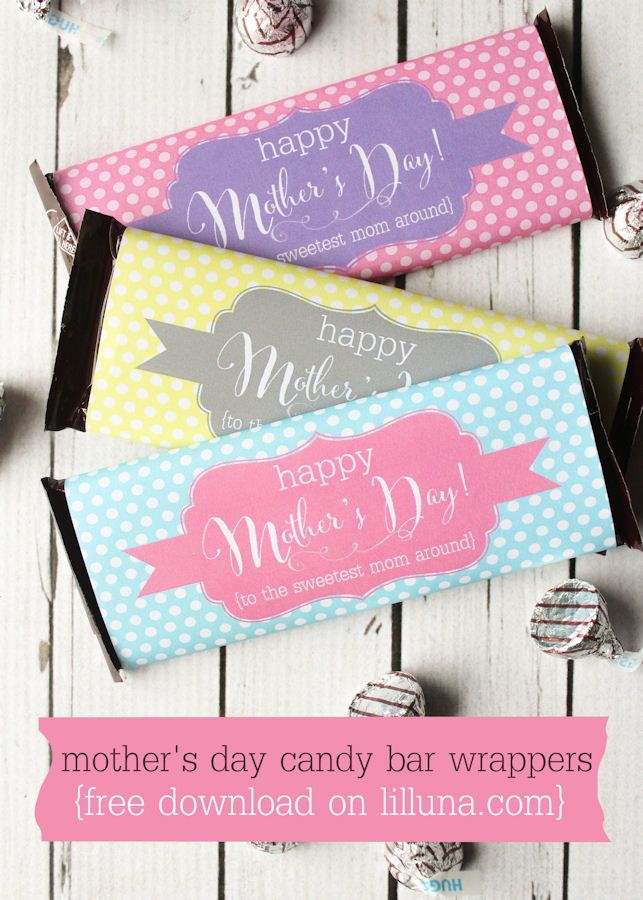 DIY Mother's Day Gift Ideas | Candy bar wrappers and Bar wrappers