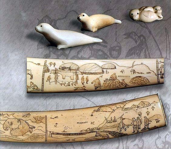 Inuit Carvings Bone Carving Inuit Bone Crafts