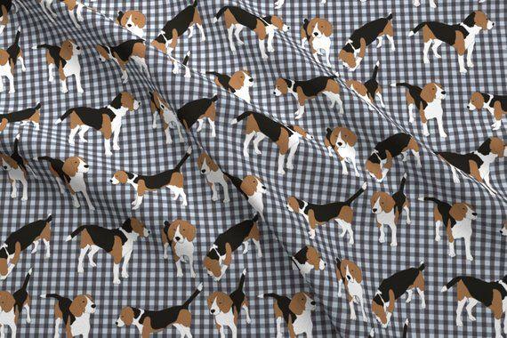 Beagle Fabric Marley Ginham By Mayacoa Beagle Dog Pet Animal