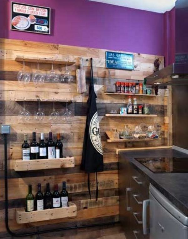 Holzpaletten - Tolle DIY Ideen für Küchen und Essräume Küche - bar für küche