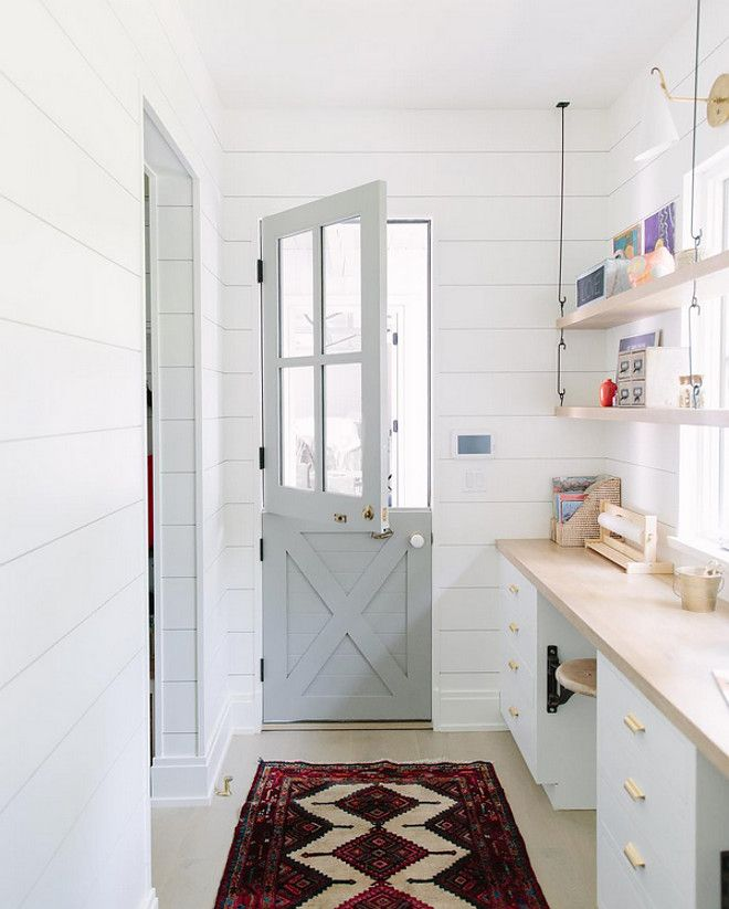 Laundry Room Pantry Ideas Benjamin Moore Antique White: Gray Door: Cape May Cobblestone By Benjamin Moore. Kate