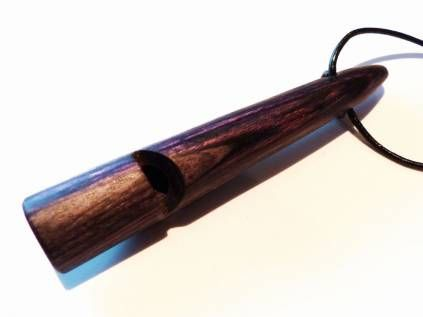 Hundepfeifen - HandarbeitHundepfeife Holz-Multiplex: Blau Lila