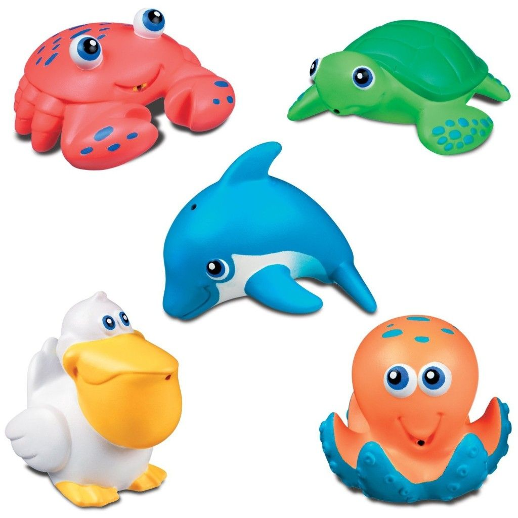 Baby Toys review: Munchkin Five Sea Squirts (iHerb) | High Score ...