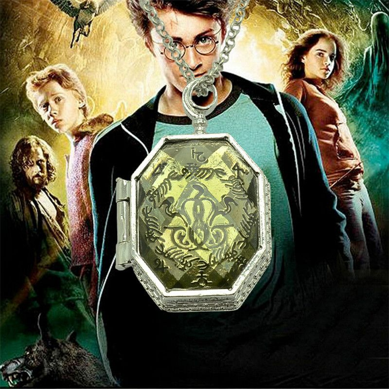 2016 New Fashion Alloy Silver Plated Necklace Harry Potter Horcrux Long Chain Necklaces Movie Jewelry Wholesale