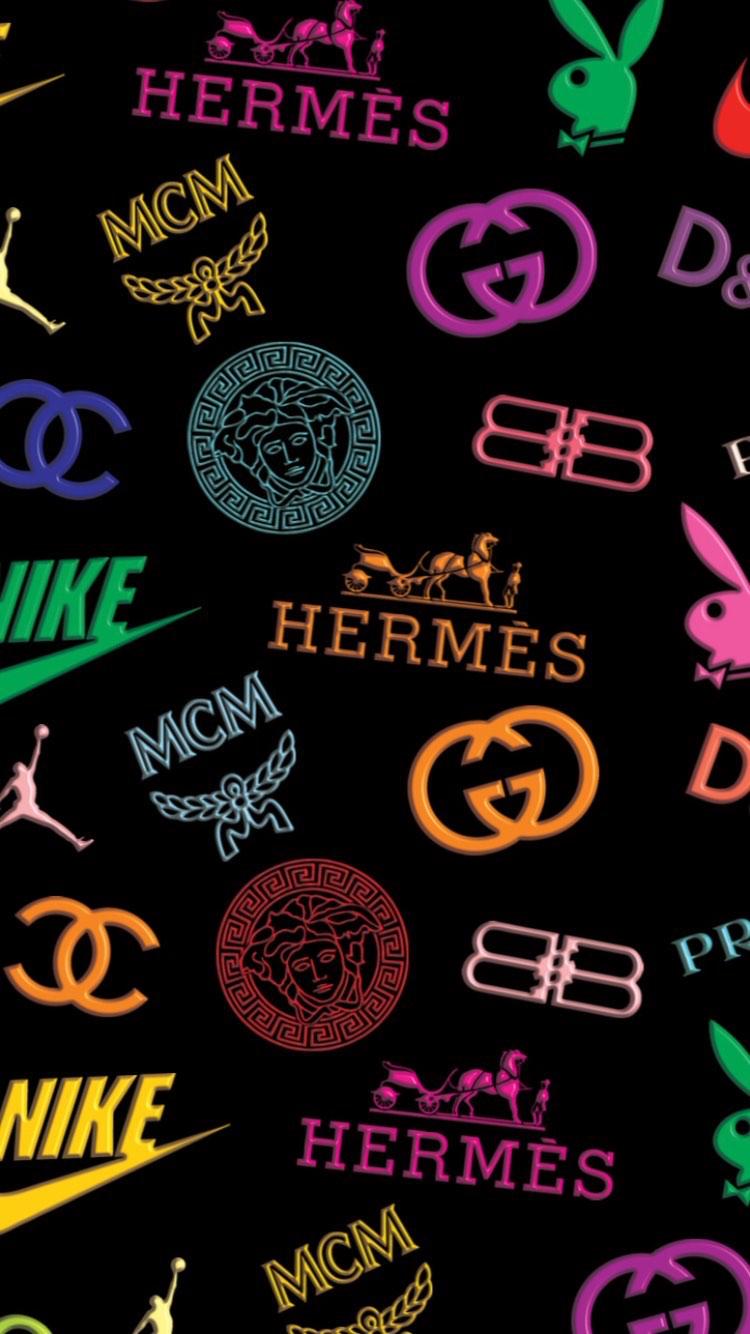 Nike Hermes Chanel Mcm Wallpaper Dd Iphone Wallpaper Sky Aesthetic Iphone Wallpaper Iphone Background Wallpaper