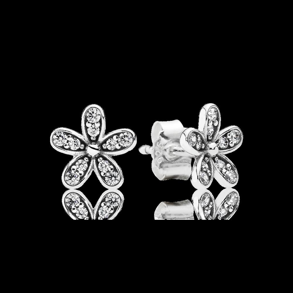 Pandora Dazzling Daisy Clear Cz Pandora Earrings Daisy Studs Flower Earrings Studs
