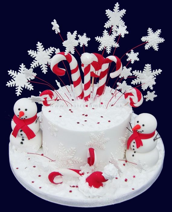 Christmas Cakes | Red And White Candy Christmas Cake Red And White Candy Christmas Cake