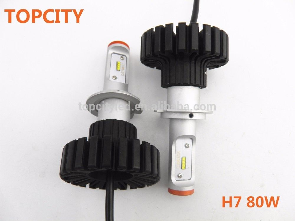 Lamp H7 80w Led Headlight Headlights Fog Motocycle Truck QBodxeWCr