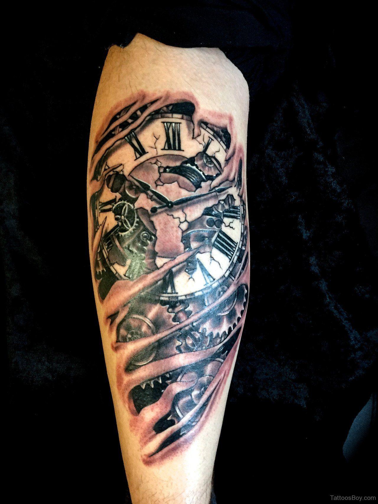 Broken Clock Face Tattoo Imgurl