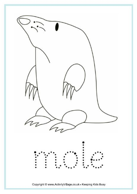 Mole Word Tracing Nursery Rhymes Activities Mole Day Mole