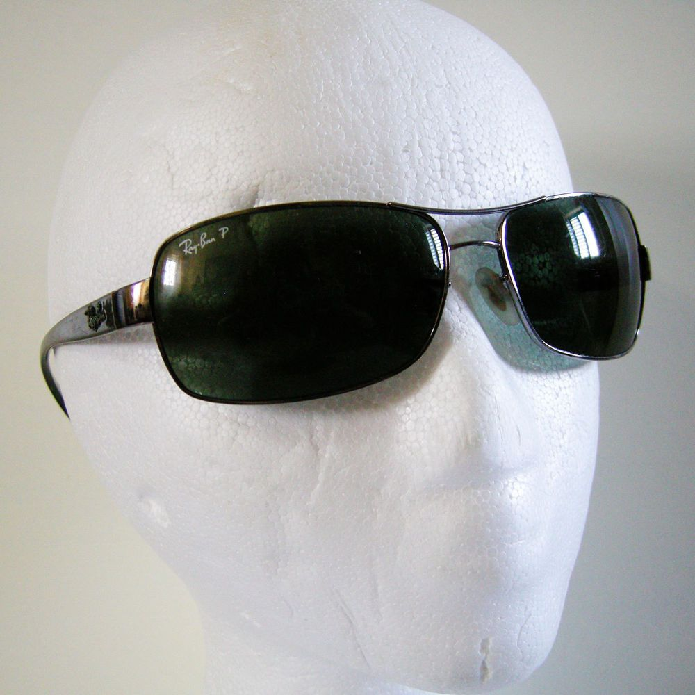 95fa59caf5b Ray-Ban RB3379 Polarized Sunglasses 004 58 Gunmetal Black Frame  Green G-15  Lens  RayBan  Rectangular