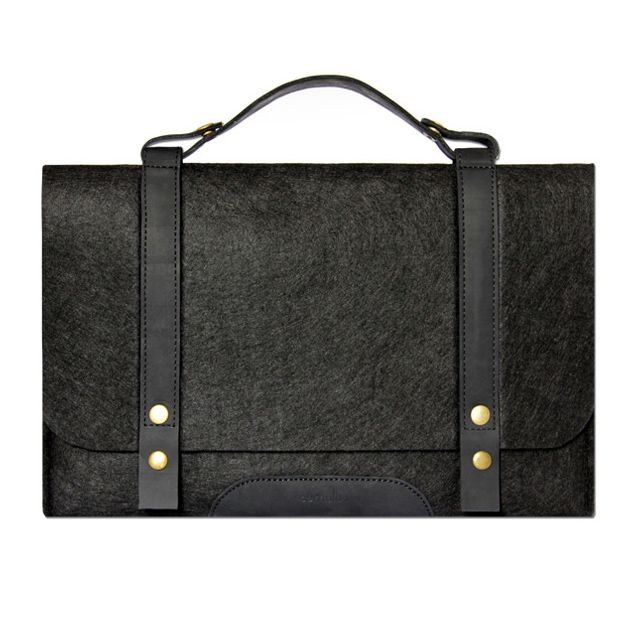 """Fabrix Cases Black Satchel for Macbook Air and Pro 13"""""""