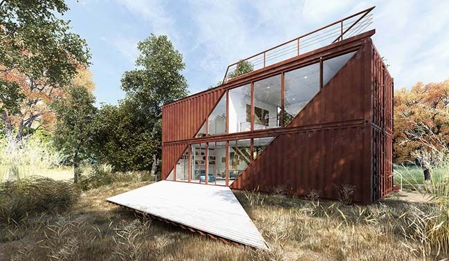 Shipping container house concept by lot ek architecture prefab house and ships - Beautiful shipping container homes ...