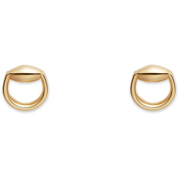 d90e2da3872 Gucci Horsebit Stud Earrings In Gold ( 950) ❤ liked on Polyvore featuring  jewelry