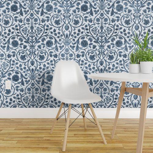 Chinoiserie Wallpaper Pheasant Toile Willow Ware By Etsy Chinoiserie Wallpaper Spoonflower Wallpaper Wallpaper