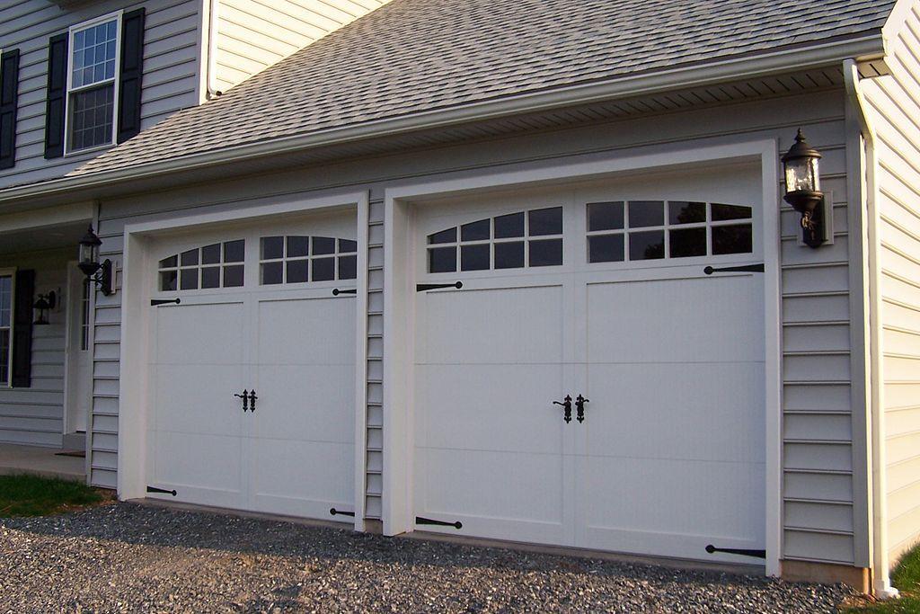 Two Car Garage Garage Doors Garage Door Windows White Garage Doors