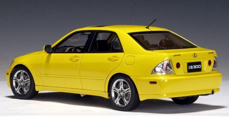 AUTOart: 2000 Lexus IS300 - Yellow - LHD (78701) in 1:18 scale - #AUTOart #IS300 #Lexus #LHD #scale #yellow #lexusis300