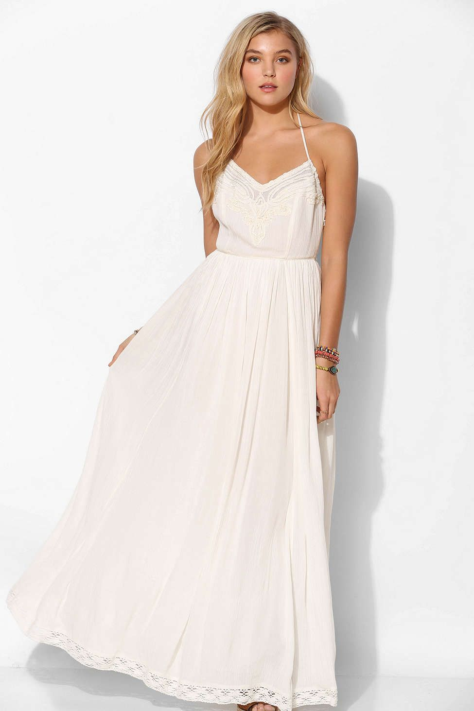 Kimchi blue dove crinkle gauze maxi dress dresses and all that