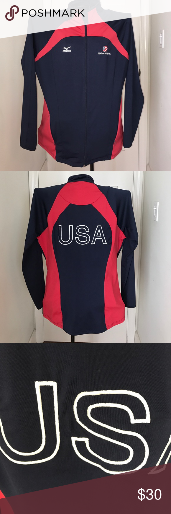 Sale Usa Beachvolleyball Mizuno Jacket Xl Team Jackets Jackets Clothes Design