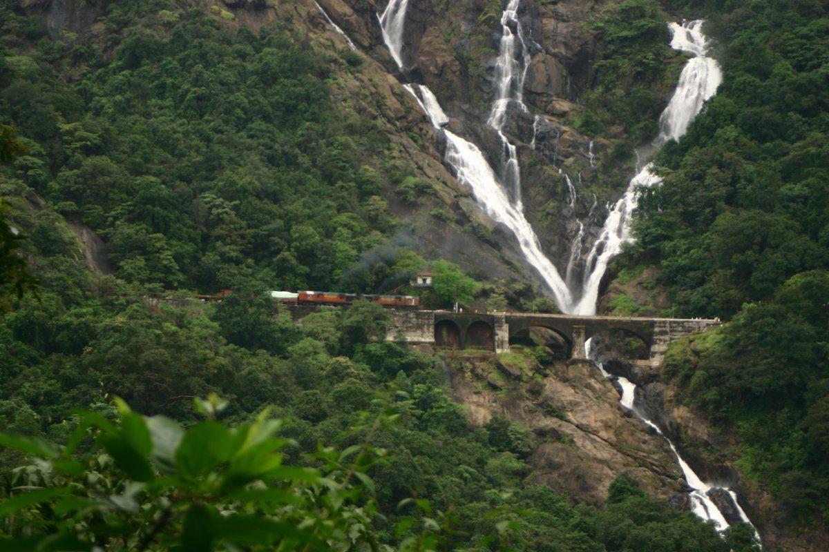Doodhsagar India Outdoor Waterfall Water