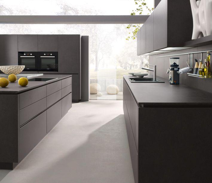 gris lave cuisine design gris