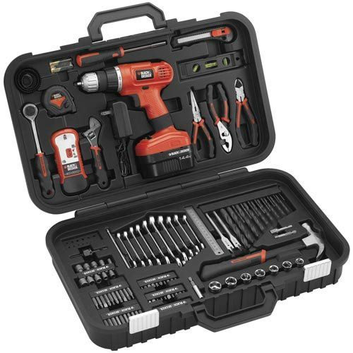 b4e6d5f9d Black & Decker PS14PKR Cordless 133-Piece Project Kit 14.4V ; Price :  $195.00