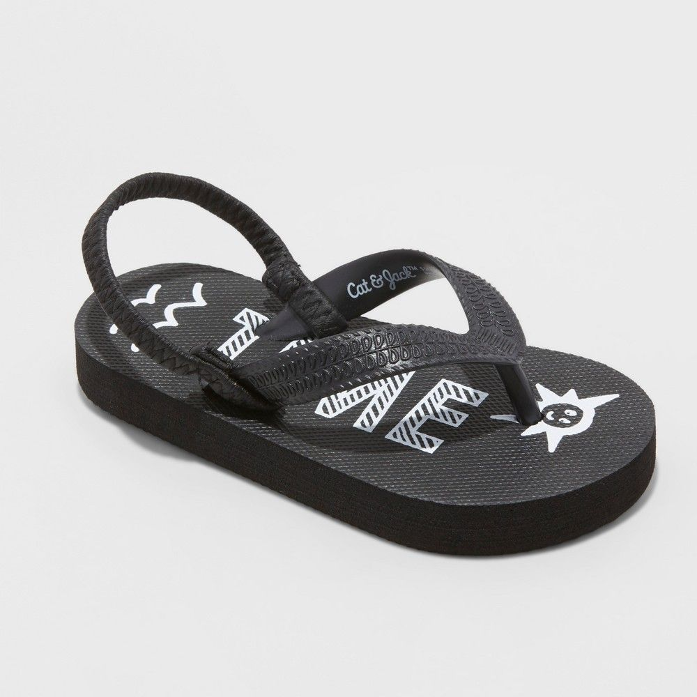 4a31fae19a6c He ll ready for summertime in these Lamar Flip-Flops from Cat and Jack.  These awesome black flip-flops make sure summertime is the best time and  are perfect ...