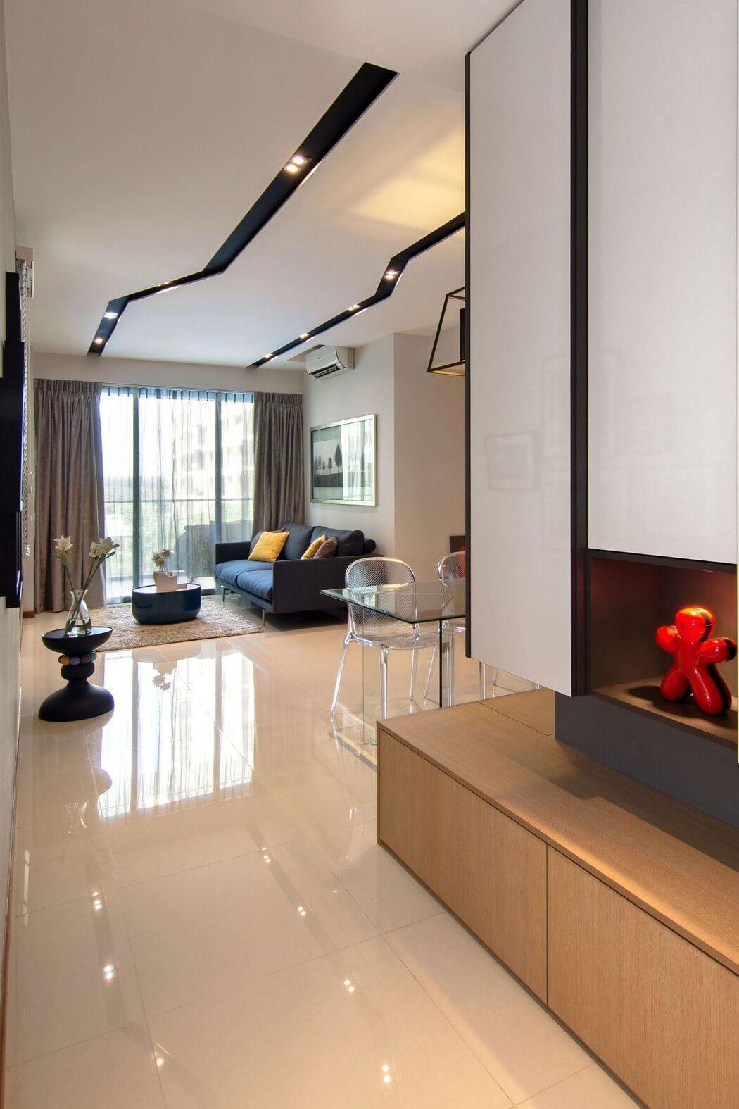 GroBartig Erstaunliche Moderne Wohnungsrenovierung Knq Associates .