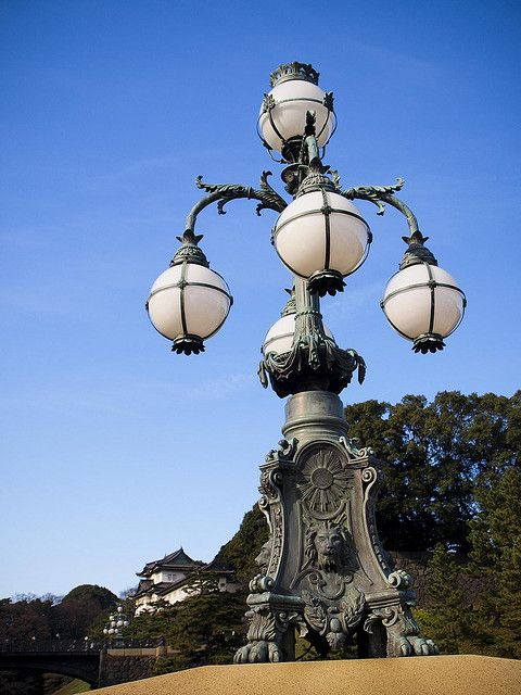 Street Light At The Tokyo Imperial Palace Street Light Street Lamp Tokyo Imperial Palace
