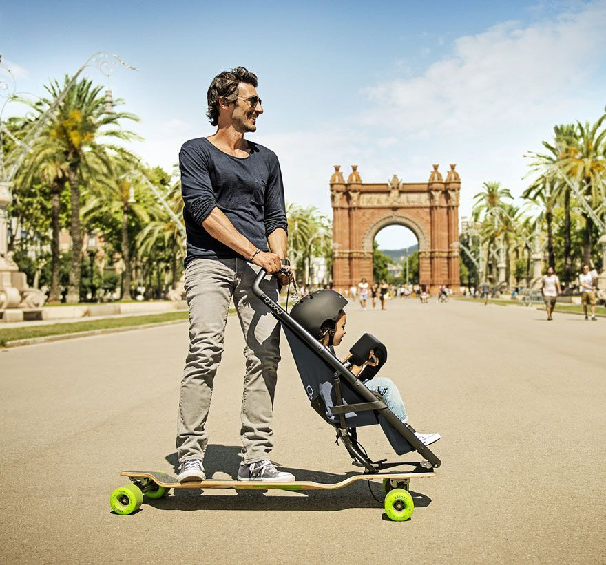 Longboard Stroller Lets Both Kids And Their Parents Have More Fun