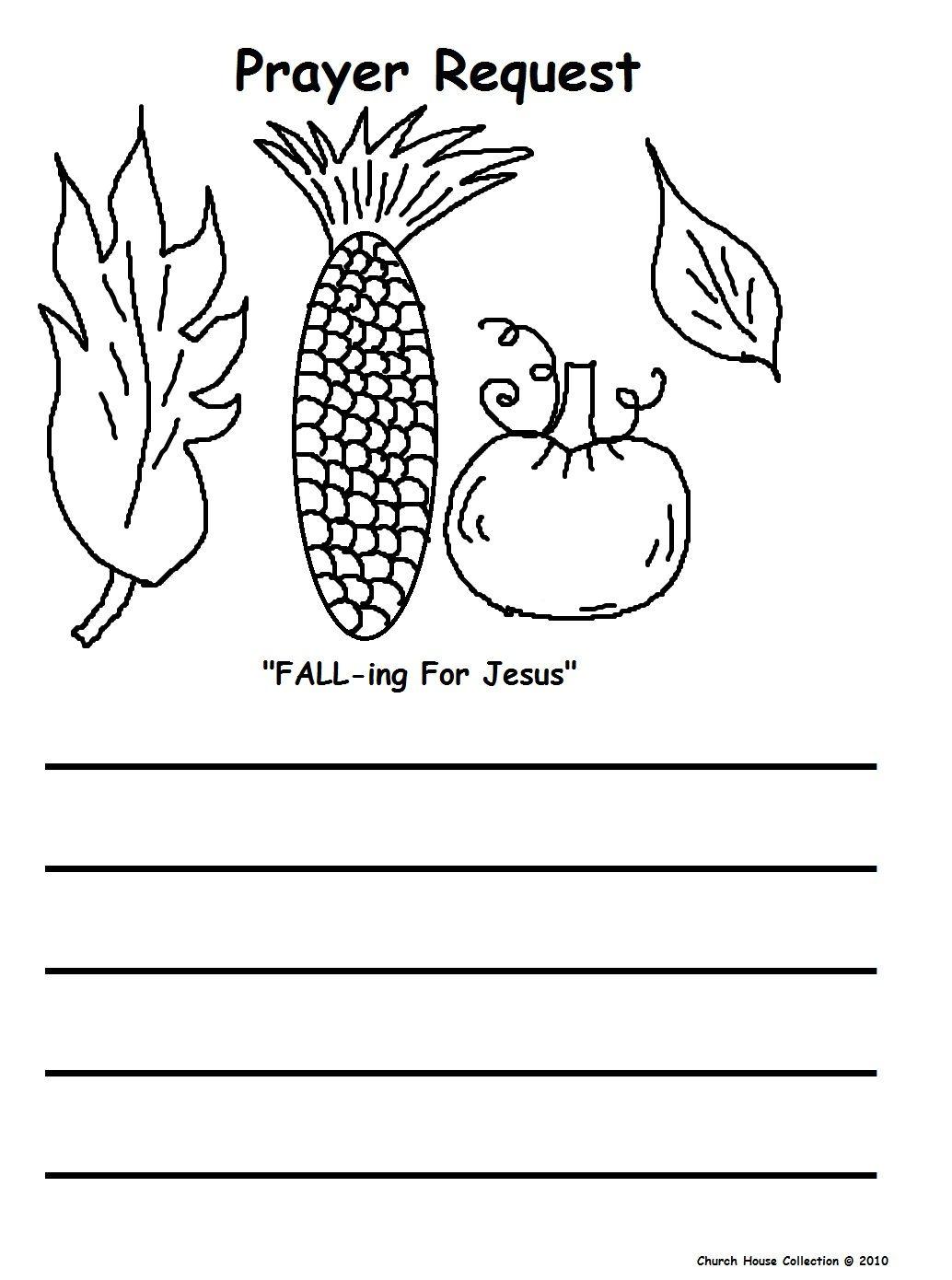 Corn Pumpkin Leaves Printable Prayer Request 1 034