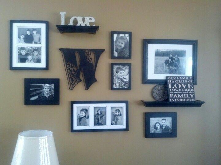 My family photo wall collage. | Recipes | Pinterest | Decoracion con ...