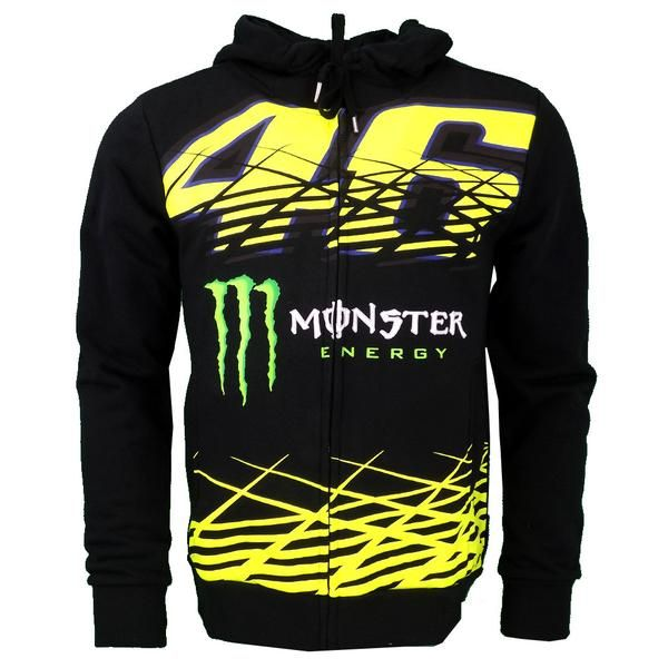 671e91003b9c7 Valentino Rossi VR46 Monster Energy Moto GP Monza Hoodie Official 2016