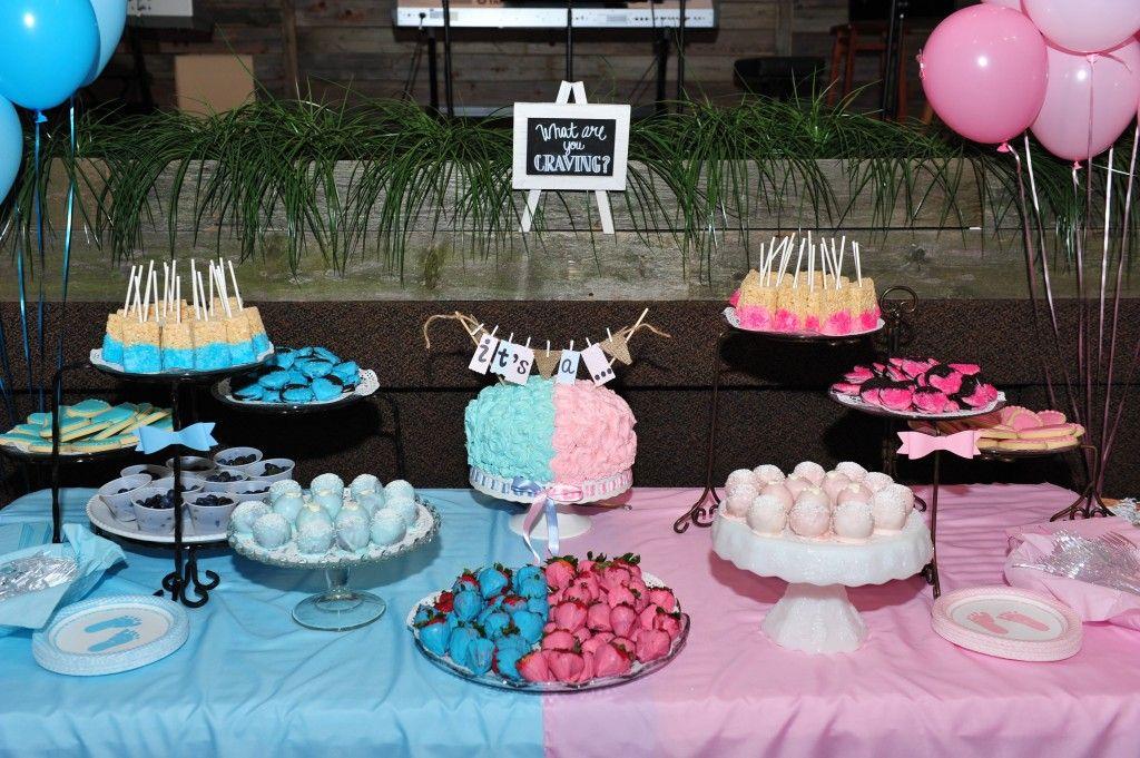 Gender Reveal Dessert Table Kraamborrel