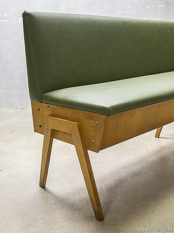 Design Vintage Bank.Vintage Design Eettafel Bank Industrieel Vintage Sofa Mid Century
