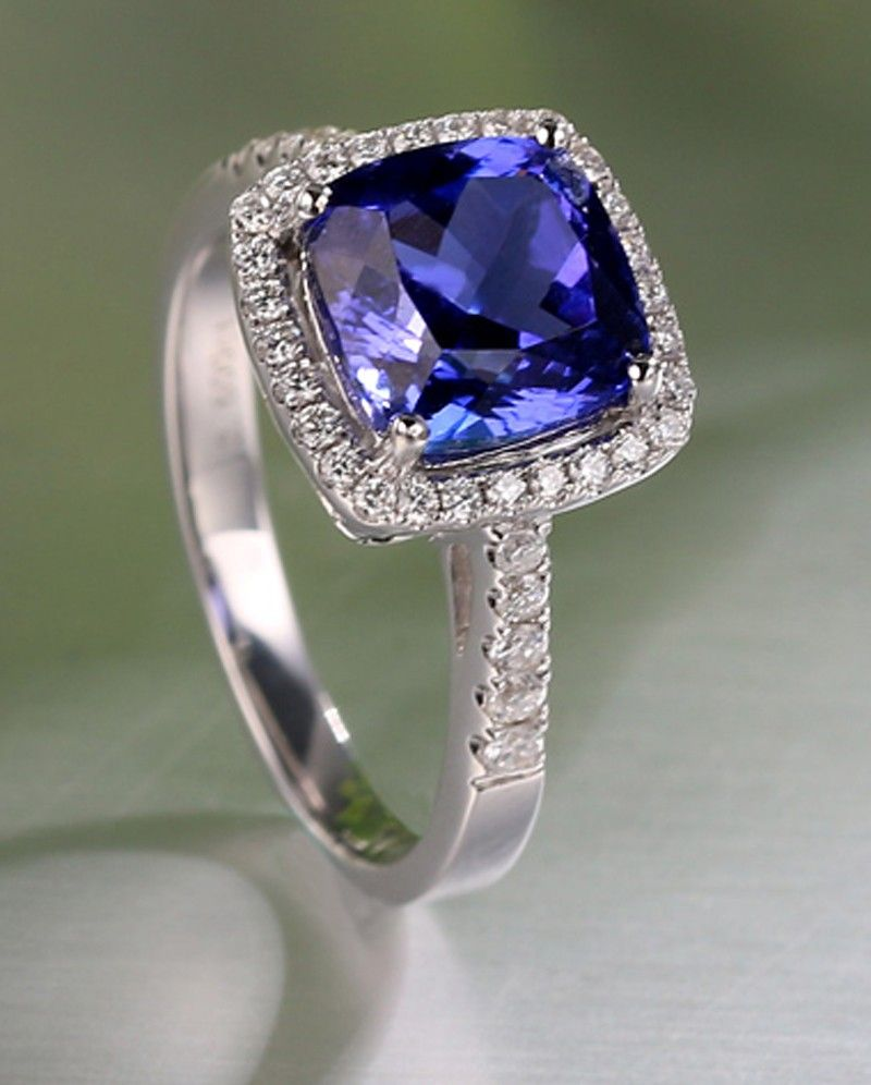 white diamond sapphire deco blue carat gold ring art products ct sz